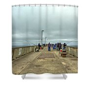 On The Pier At Pacifica Shower Curtain