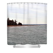 On The Point Shower Curtain