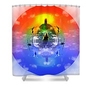 On The Rise Shower Curtain