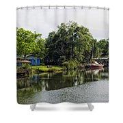 On The River In Baldwin County Alabama Shower Curtain