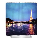 On The River Seine Shower Curtain