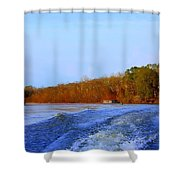 On The Rivers Bend Shower Curtain