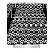 On The Riviera Stairs Palm Springs Shower Curtain