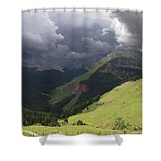 On The Road To Crystal Lake Shower Curtain