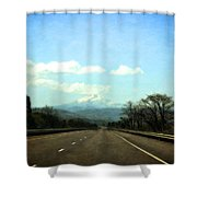 On The Road To Mount Hood Shower Curtain