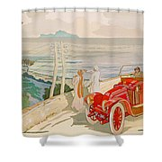 On The Road To Naples Shower Curtain