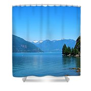 On The Road To Whistler Shower Curtain