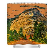 On The Road To Zion Shower Curtain
