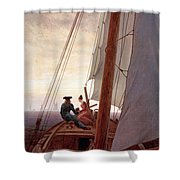 On The Sailing Boat Shower Curtain