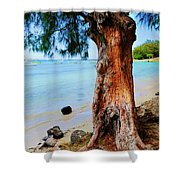 On The Shore 1. Mauritius Shower Curtain