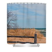 On The Shore Shower Curtain
