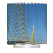 On The Sky Way Brigde  Shower Curtain