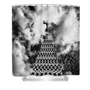 On The Riviera Stairway To Heaven Bw Palm Springs Shower Curtain