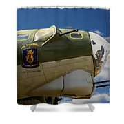 On The Tarmac B-17g Shower Curtain