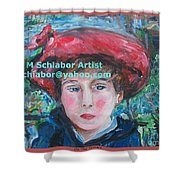 On The Terrace Renoir Rendition Shower Curtain