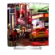 On The Town - Times Square Shower Curtain