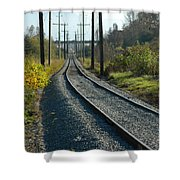 On The Tracks Shower Curtain
