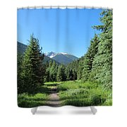 On The Trail Around Lightning Lake Shower Curtain