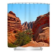 On The Trail At Arches Np Shower Curtain