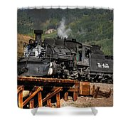 On The Trestle Shower Curtain