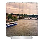 On The Vltava River - Prague Shower Curtain