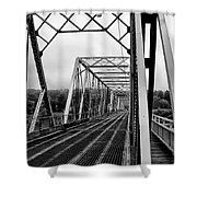 On The Washingtons Crossing Bridge Shower Curtain