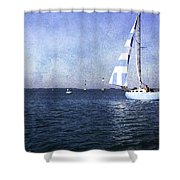 On The Water 3 - Venice Shower Curtain