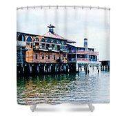 Buildings On The Water  Shower Curtain