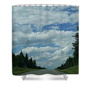 On The Way Again Shower Curtain