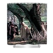 On The Way To Gethsemane Shower Curtain