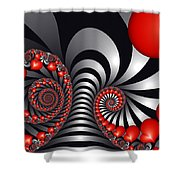 On The Way To Happiness Shower Curtain