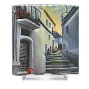 On The Way To Mamma's House In Castelluccio Italy Shower Curtain
