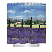 On The Way To Roussillon Shower Curtain