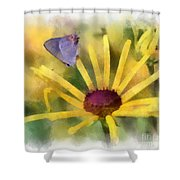 On The Yellow Shower Curtain