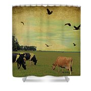 On This Green Earth Shower Curtain