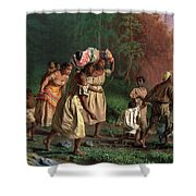 On To Liberty, 1867 Shower Curtain