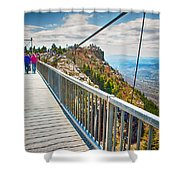 On Top Of Grandfather Mountain Mile High Bridge In Nc Shower Curtain