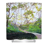 Once Around The Park Shower Curtain