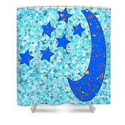 Once In A Blue Moon Also Got 5 Stars Signature Art  Navinjoshi Artist Created Images Textures Patter Shower Curtain