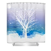 Once Upon A Moon Lit Night... Shower Curtain