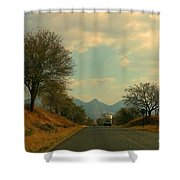 Oncoming Truck Shower Curtain