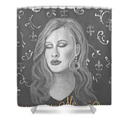 One And Only Shower Curtain by The Art With A Heart By Charlotte Phillips