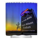 One Bills Drive Shower Curtain