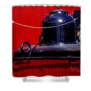One Brass Bell Shower Curtain