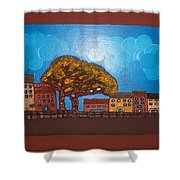 One Cloudy Day Shower Curtain
