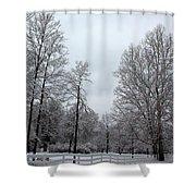 One Deer Land Shower Curtain