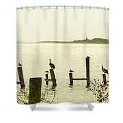 Seadrift Texas Only One Empty Seat Shower Curtain