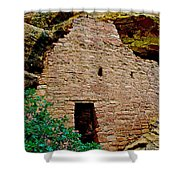 One Entry To Spruce Tree House On Chapin Mesa In Mesa Verde National Park-colorado  Shower Curtain