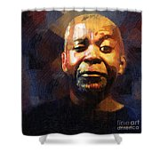 One Eye In The Mirror Shower Curtain by RC deWinter