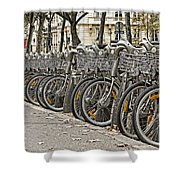 One Fine Morning In Paris Shower Curtain